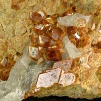 Grossular With Quartz With Tremolite Inclusions