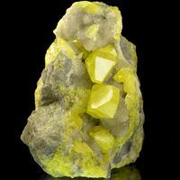 Sulphur On Calcite