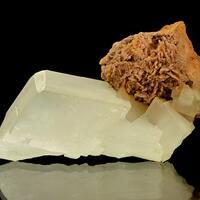 Calcite & Celestine On Ankerite
