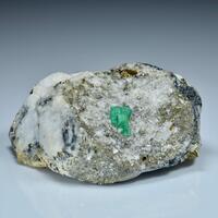 Emerald Pyrite On Calcite