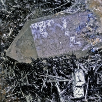 Stibnite On Quartz