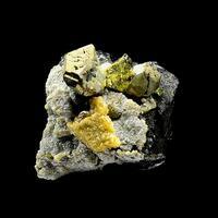 Chalcopyrite Ferberite Siderite & Pyrite