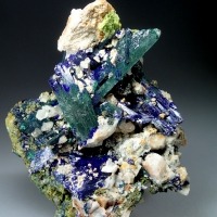 Cerussite On Azurite