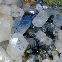 Tarnowitzite With Azurite Inclusions