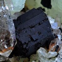 Babingtonite Prehnite & Smoky Quartz