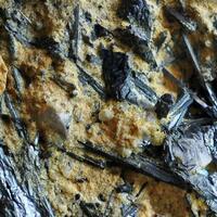 Stibiconite & Fluorite On Stibnite