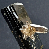 Smoky Quartz On Aegirine