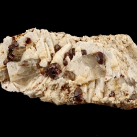 Spessartine On Orthoclase & Smoky Quartz