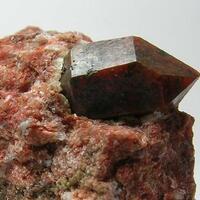 Quartz With Hematite & Gypsum