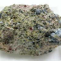 Fluoro-edenite & Pseudobrookite