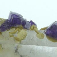 Fluorite Siderite & Quartz