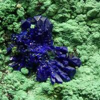 Native Copper Azurite & Malachite