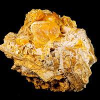 Wulfenite Hydrozincite & Fornacite