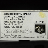 Rhodochrosite With Fluorite Galena & Quartz
