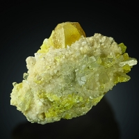 Native Sulphur With Celestine & Aragonite