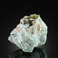 Fluorite On Baryte With Chalcopyrite