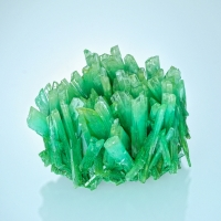 Gypsum Var Selenite With Atacamite