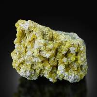 Native Sulphur With Baryte & Aragonite