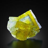 Fluorite With Baryte & Chalcopyrite