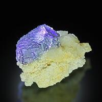 Fluorite On Calcite With Quartz