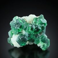 Fluorite With Beryl Var Goshenite