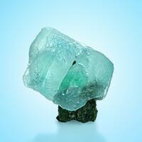 Fluorite With Tourmaline Schorl