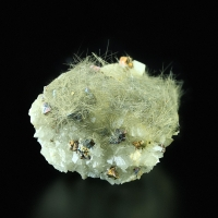 Millerite With Chalcopyrite On Dolomite