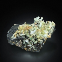 Aquamarine With Fluorite & Schorl
