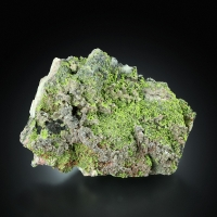 Mottramite With Calcite