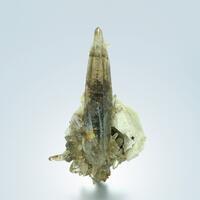 Aegirine In Smoky Quartz With Microcline
