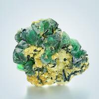 Fluorite With Schorl On Muscovite