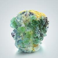 Fluorite On Microcline With Schorl
