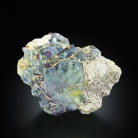 Fluorite With Schorl & Orthoclase
