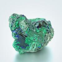 Azurite With Malachite Psm Azurite & Cerussite