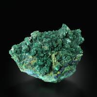 Malachite Psm Azurite With Azurite On Cuprite