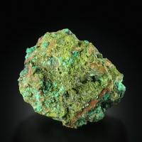 Mottramite On Cuprite