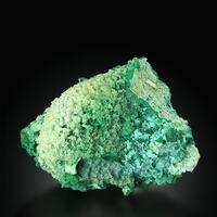 Smithsonite On Rosasite With Calcite & Malachite