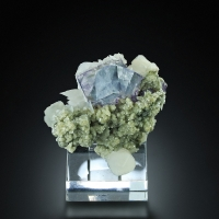 Fluorite With Calcite & Muscovite