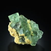 Fluorite With Calcite & Chalcedony