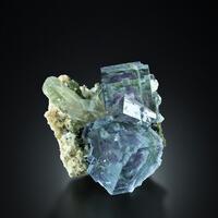 Fluorite With Quartz & Dolomite