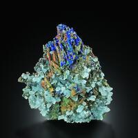 Azurite Calcite Olivenite Malachite Cuprite & Conichalcite