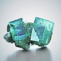 Fluorite With Ferberite & Quartz