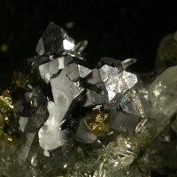 Quartz Galena & Chalcopyrite On Matrix