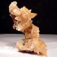 Calcite On Dolomite With Adamite