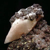 Chalcopyrite & Calcite On Hematite