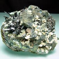 Ferberite With Calcite & Chalcopyrite