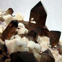 Microcline & Smoky Quartz With Fluorite