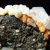 Calcite On Pyrite & Pyrrhotite