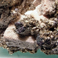 Pyrargyrite & Pyrite