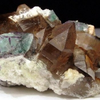 Smoky Quartz & Fluorite With Hyalite
